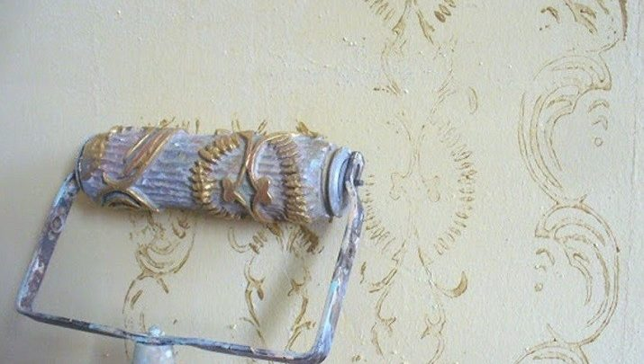 Hengerelt fal… Neked volt még ilyen mintával készül falad?